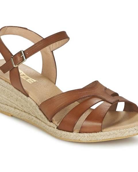 Hnedé sandále So Size