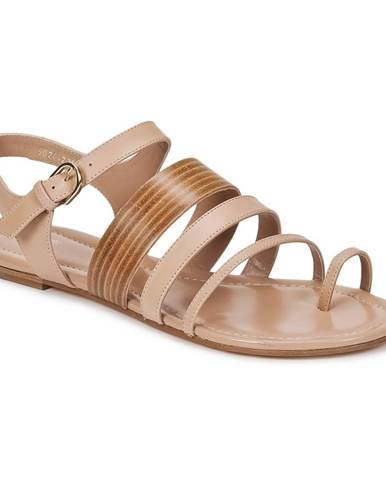 Béžové sandále Hugo Boss Black
