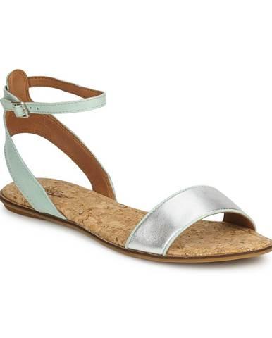 Strieborné sandále Lucky Brand