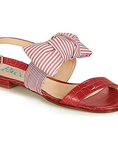Červené sandále Paco Gil