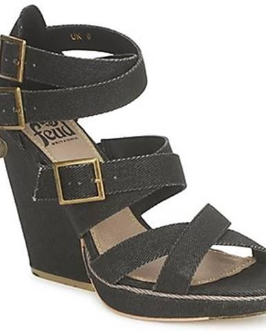 Čierne sandále Feud