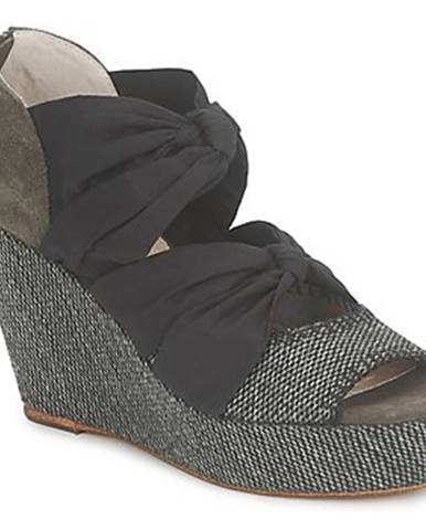 Čierne sandále Sans Interdit