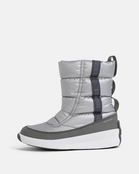 Strieborné topánky Sorel