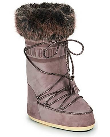 Fialové topánky Moon Boot