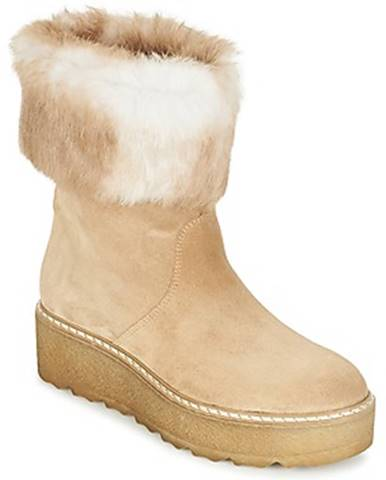 Béžové polokozačky Nome Footwear