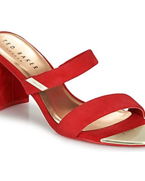 Červené sandále Ted Baker