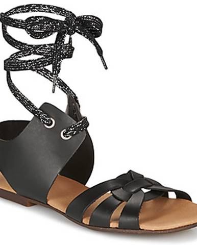 Čierne sandále Ippon Vintage