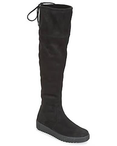 Čierne čižmy Remonte Dorndorf
