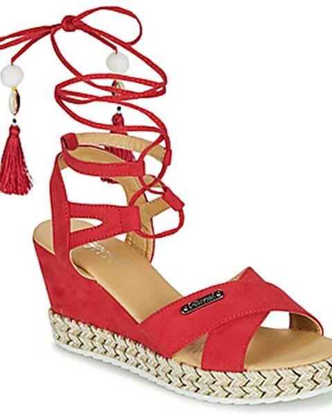 Červené sandále Kaporal