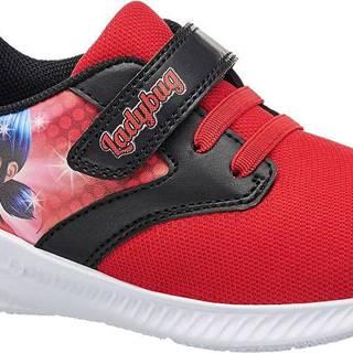 Miraculous - Červené tenisky na suchý zips Kúzelná Lienka a Čierny Kocúr