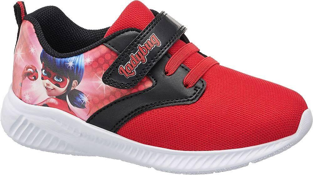 Miraculous Miraculous - Červené tenisky na suchý zips Kúzelná Lienka a Čierny Kocúr
