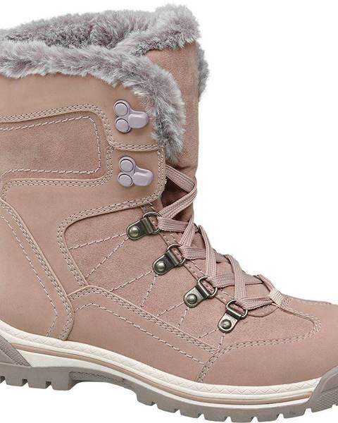 Ružová zimná obuv Cortina
