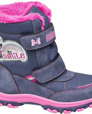 Modrá zimná obuv Minnie Mouse