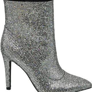 Star Collection - Strieborné členkové čižmy Rita Ora