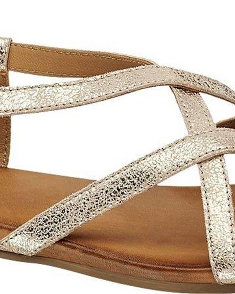 Zlaté sandále 5th Avenue