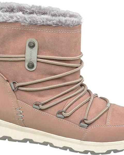 Ružová zimná obuv Bench