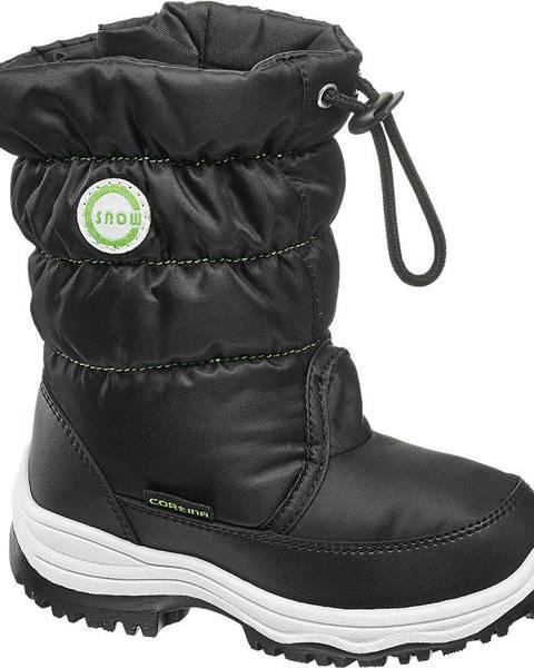 Čierna zimná obuv Cortina