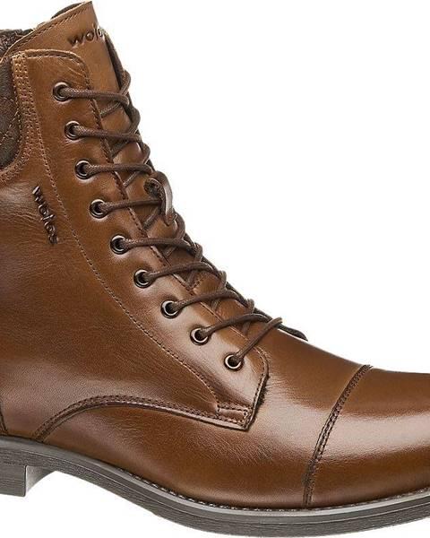 Hnedé topánky Wojas