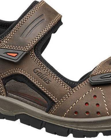 Tmavohnedé sandále Gallus
