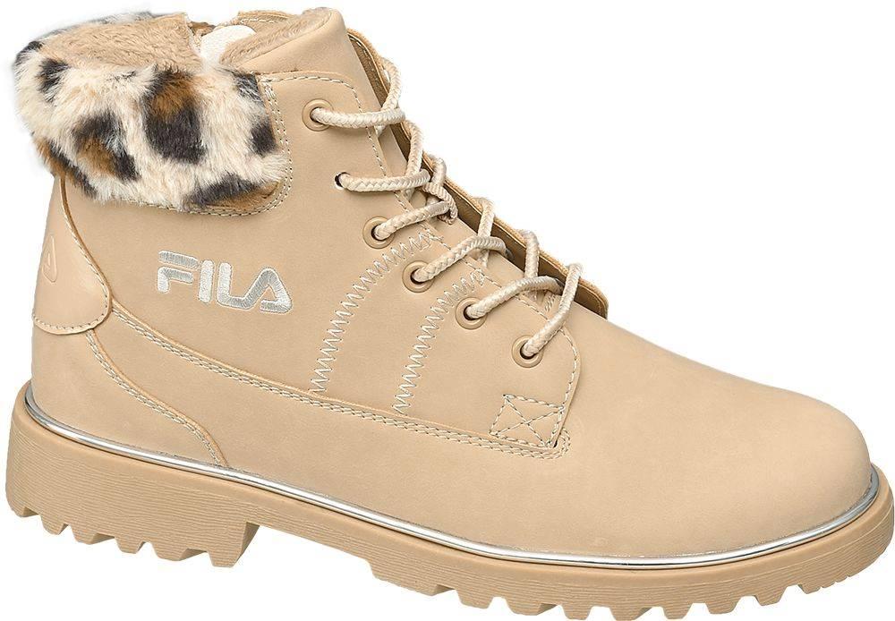 Fila Fila - Béžová šnurovacia obuv so zipsom Fila