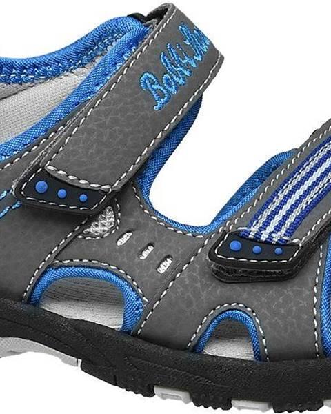 Sivé sandále Bobbi-Shoes