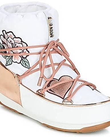 Biele topánky Moon Boot