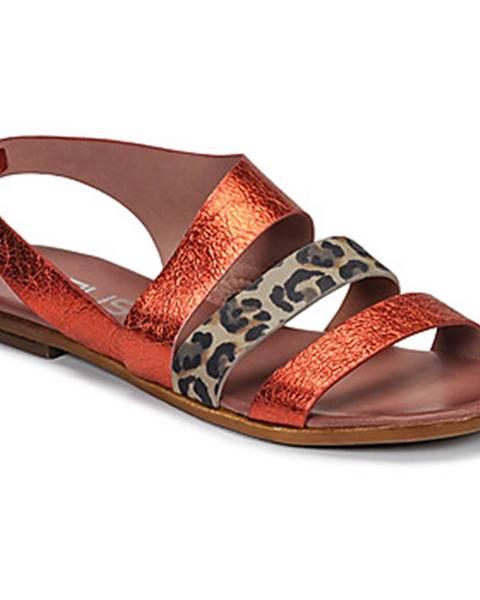 Červené sandále Mjus