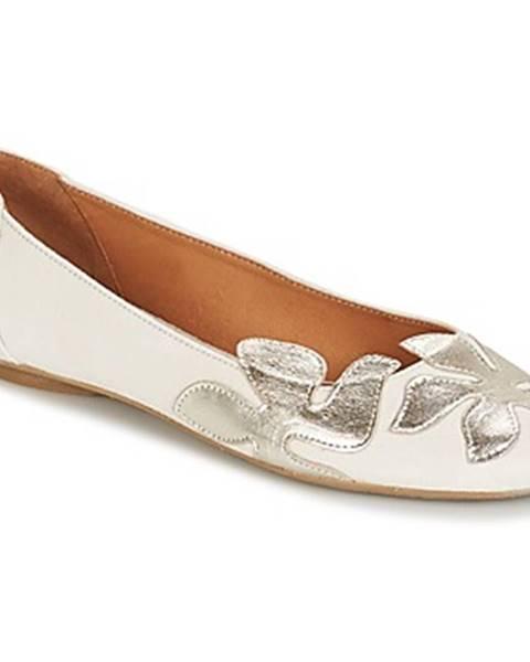 Biele balerínky Betty London