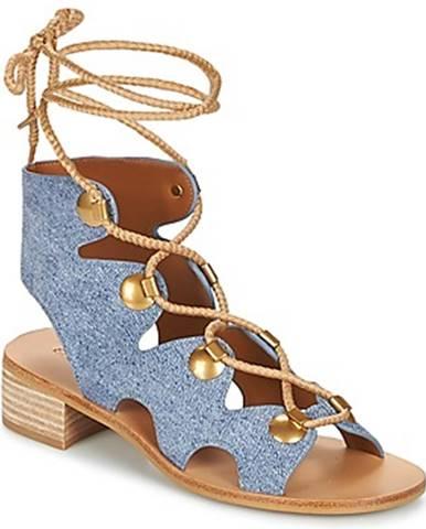 Modré sandále See by Chloé