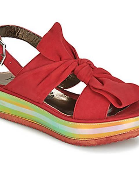 Červené sandále Papucei