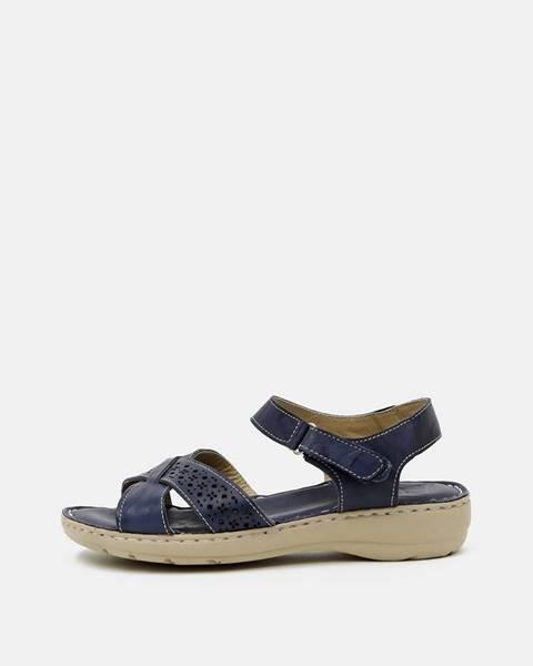 Tmavomodré sandále wild