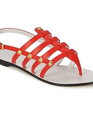 Červené sandále Versace