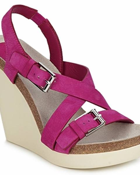 Ružové sandále Jil Sander