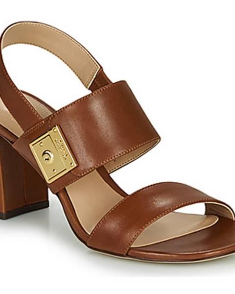 Hnedé sandále Lauren Ralph Lauren