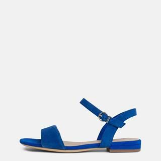 Modré semišové sandálky Tamaris