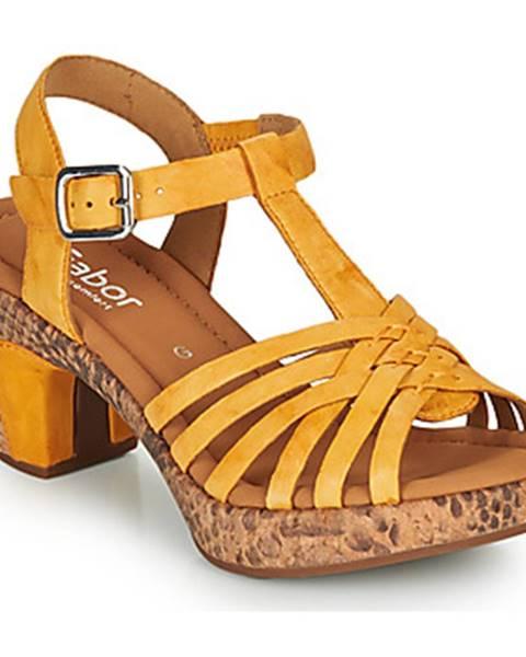 Žlté sandále Gabor