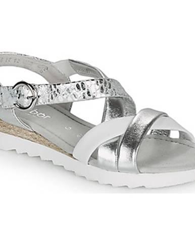 Strieborné sandále Gabor