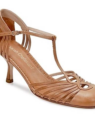 Hnedé sandále Sarah Chofakian
