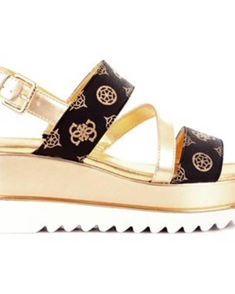 Hnedé sandále Guess